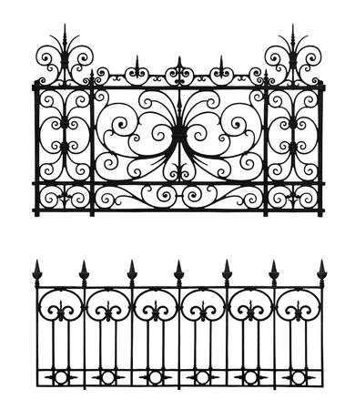 Set of forged decorative lattice isolated on white background Stock Photo - 15866649