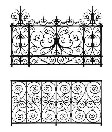 Set of forged decorative lattice isolated on white background Stock Photo - 15866651
