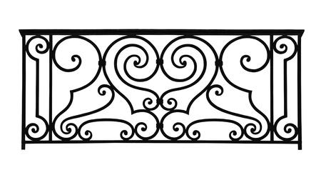 wrought iron: Forged decorative lattice isolated on white background