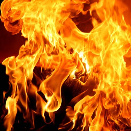 Red Fire and flames abstract background