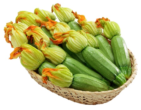 courgettes: Courgettes with flowers