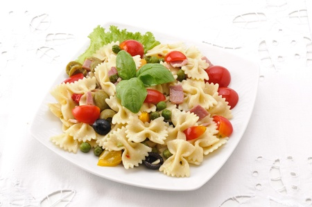 pasta salad: plate of cold pasta