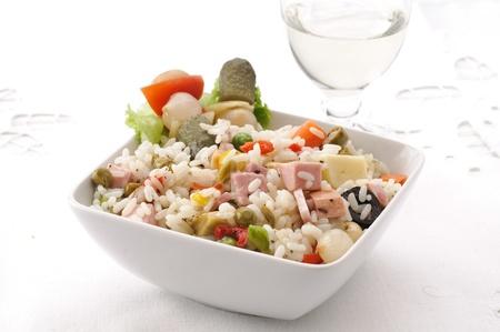 pasta salad: cold rice