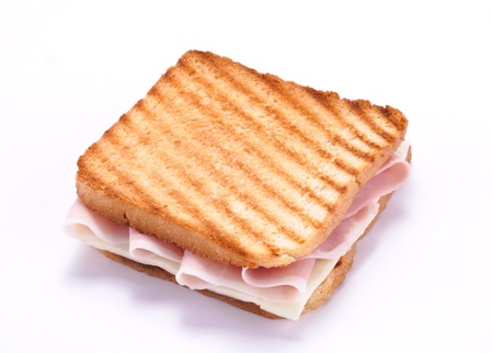 ham sandwich: toast with ham