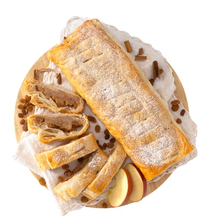 typical: Typical strudel with fruit Stock Photo