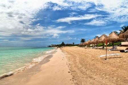Playa del Carmen beach, Mexico Stock Photo