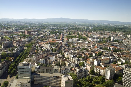 aerea: Aerial view of the City of Frankfurt, Germany