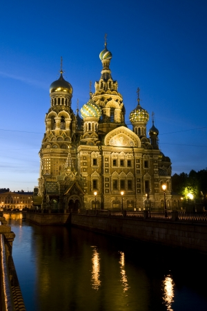 The famous colorful church of Saint Petersburg,  Church of  the Savior on Blood  photo