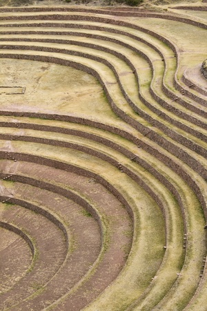 sacred valley of the incas: Moray harvest terraces in Sacred Valley of Cusco Peru Stock Photo