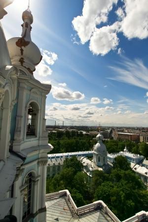 bartolomeo rastrelli: Vista desde la Catedral de Smolny, San Petersburgo