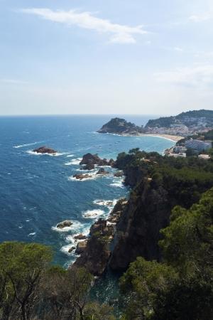 mediterraneo: Cala cliffs in Costa Brava, Spain Stock Photo