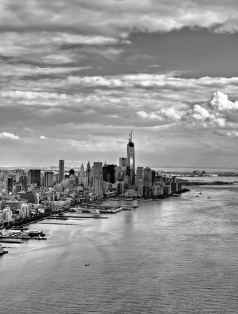 Manhattan view from a helicopter, New York, USA Stock fotó