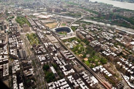 yankees: Helicopter view of Yankees Stadium in Manhattan, New York, USA
