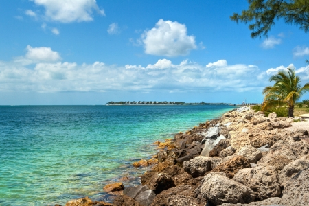 key west: View from the Fort Zachary Taylor Historic State Park in Key West, Florida  Stock Photo
