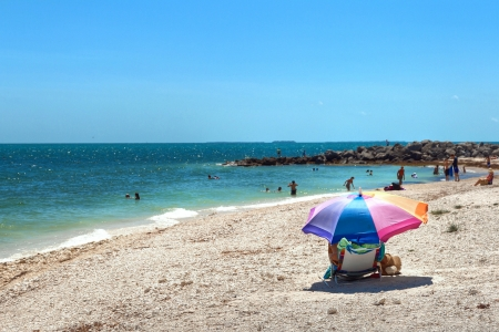 Beach view from the Fort Zachary Taylor Historic State Park in Key West, Florida  photo