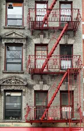 typical: Typical building stairs in New York neighbourhoods, USA