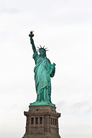Iconic Statue of liberty in Liberty Island, New York, USA