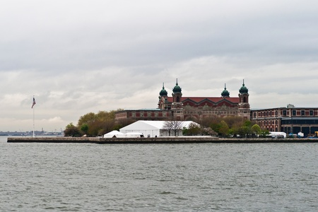 New York, USA, May 8, 2013  Ellis Island Immigration Museum in Ellis Island, New York, USA taken on a cloudy day on May 8th, 2013