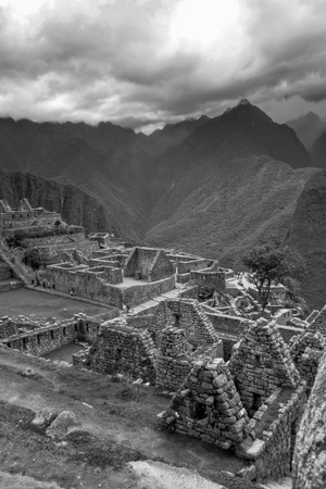 the lost city of the incas: Sacred city of the incas  Machu Picchu and its splendor in Cusco, Peru
