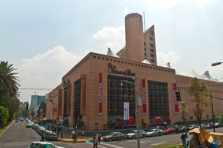 Mexico DF, Mexico, September 19, 2011  One of the main shopping malls in Mexico DF, Palacio de Hierro with its unique architecture  Taken on september 19, 2011  Editorial