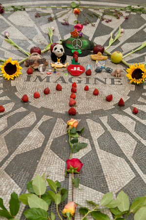 Strawberry fields in Central Park, New York, USA
