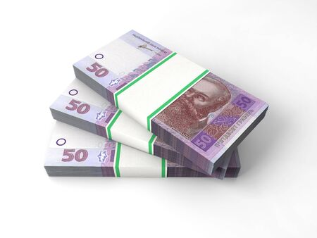 hryvna: Stacks of banknotes Stock Photo