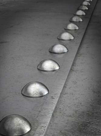 rivets: Row of rivets on the metal grunge background Stock Photo