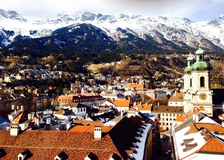 viewpoints: View point in Innsbruck Stock Photo