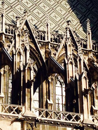neo gothic: Ornaments of church