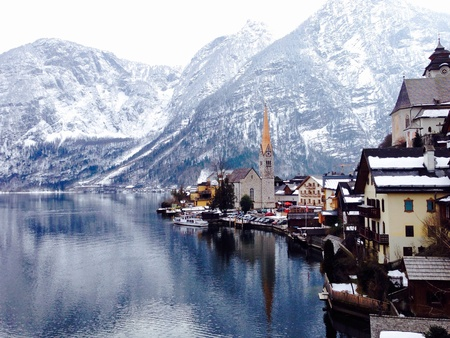 viewpoints: Viewpoints of lake and snow mountains in Hallstatt