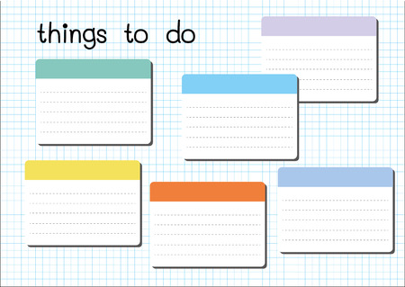 things to do: things to do blank on white graph paper sheet