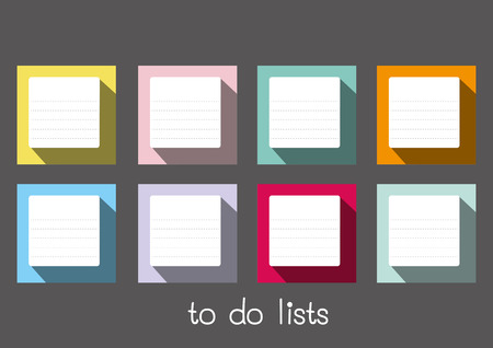 to do lists blank long shadow Vector