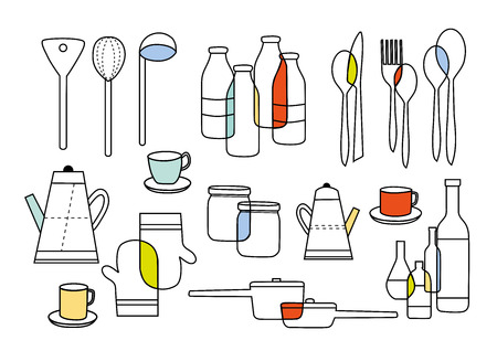 cooking eating and homeware equipments Vector