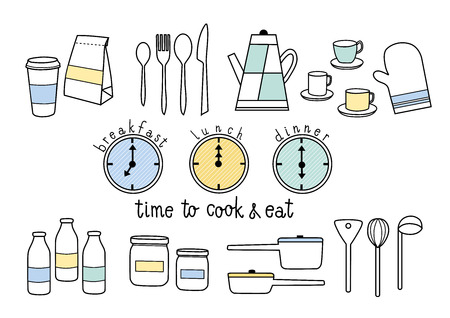 time to cook and eat breakfast, lunch, dinner
