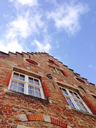 historical building: Historical building in bruges belgium