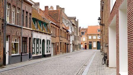 Old town city in Brugge Belgium