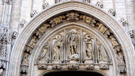 architectural details: architectural details in Brussels belgium Stock Photo