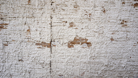 disintegrate: reed texture on clay wall finishing by white lime