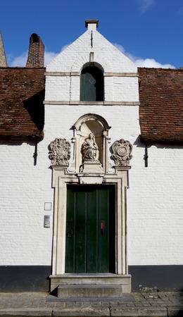 bruges: old stype house in Bruges