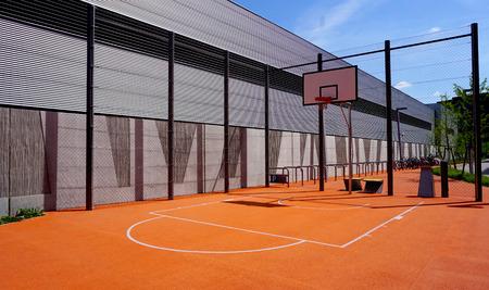 Basketball court sport outdoor public horizontal