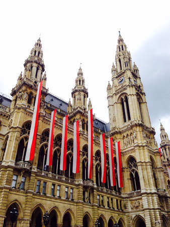 cityhall: Historical building cityhall in vienna Austria