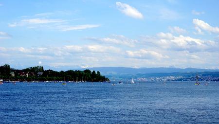 zurich: Zurich lake in Switzerland
