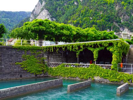 interlaken: Port of Thun Lake Interlaken Switzerland