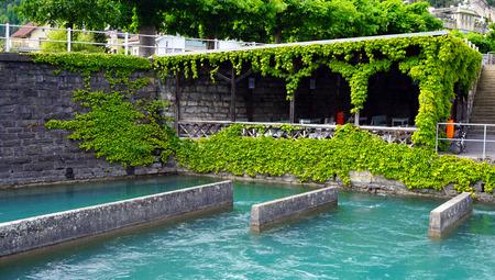 interlaken: Pier of Thun Lake Interlaken Switzerland