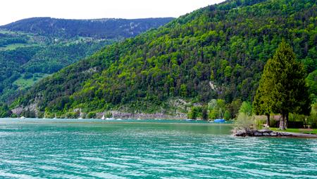 interlaken: Scene of Thun Lake Interlaken Switzerland