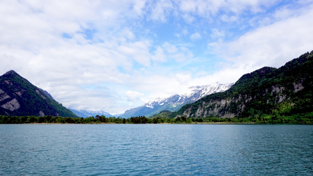 interlaken: Scenery of Thun Lake Interlaken Switzerland
