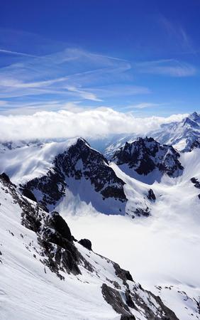 scene of Valley Titlis snow mountains Engelberg Switzerland