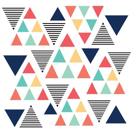 Triangle pattern color variation background pastel color