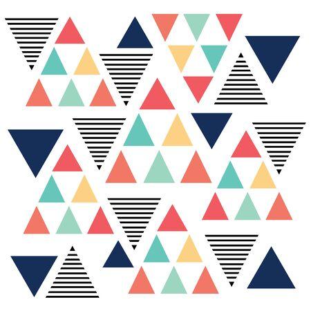 variation: Triangle pattern color variation background pastel color