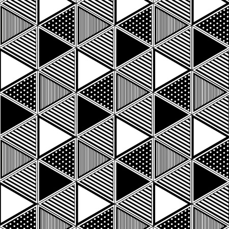 Triangle pattern seamless mixed background